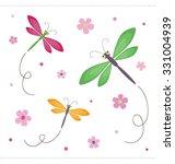 dragonflies dancing around....   Shutterstock .eps vector #331004939