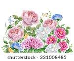Flower Garden. Watercolor