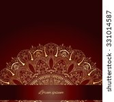 invitation card with round lacy ... | Shutterstock .eps vector #331014587