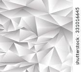 abstract grey polygonal... | Shutterstock . vector #331016645