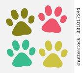 paw print  | Shutterstock .eps vector #331017341