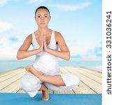 yoga. | Shutterstock . vector #331036241