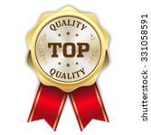 gold round top quality rosette... | Shutterstock .eps vector #331058591