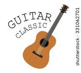 live guitar classic instrument...   Shutterstock .eps vector #331062701