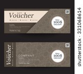 gift voucher premier color | Shutterstock .eps vector #331068614