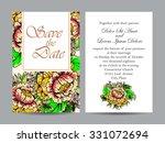 romantic invitation. wedding ... | Shutterstock .eps vector #331072694