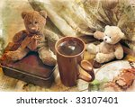 Two Toy Bear Cub And Cup. Still ...