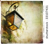 old lantern - vintage styled picture - stock photo