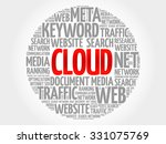 cloud word cloud  business... | Shutterstock .eps vector #331075769