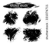 vector set of grunge brush... | Shutterstock .eps vector #331076711