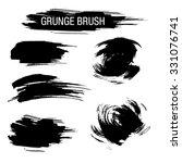 vector set of grunge brush...   Shutterstock .eps vector #331076741