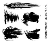 vector set of grunge brush... | Shutterstock .eps vector #331076771