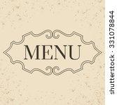 vintage label. calligraphic... | Shutterstock .eps vector #331078844