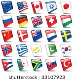 set of world flags. all... | Shutterstock .eps vector #33107923