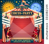 carnival circus tent invite... | Shutterstock .eps vector #331082144