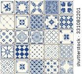 Indigo Ornate Blue Tile Work...