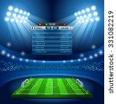 soccer vector stadium score... | Shutterstock .eps vector #331082219