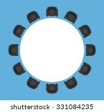 conference or office table with ... | Shutterstock .eps vector #331084235