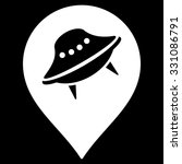 ufo place vector icon. style is ... | Shutterstock .eps vector #331086791