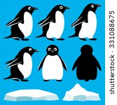 vector set. penguins. | Shutterstock .eps vector #331088675
