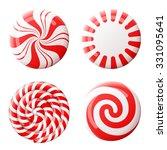 striped peppermint candies... | Shutterstock .eps vector #331095641