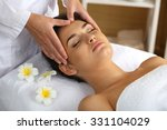 young woman in beauty spa salon ... | Shutterstock . vector #331104029