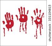 handprint blood hand vector... | Shutterstock .eps vector #331104815