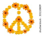 Peace Symbol Made From Orange...