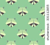 Seamless Raccoon Pattern In...