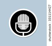 retro microphone icon. device... | Shutterstock .eps vector #331114427