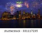 new year's eve in new york city ... | Shutterstock . vector #331117235