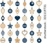 christmas ball collection  ... | Shutterstock .eps vector #331119731