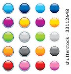 glossy buttons   editable... | Shutterstock .eps vector #33112648