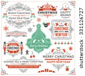 large collection of christmas... | Shutterstock .eps vector #331126727