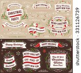 large set of christmas banners... | Shutterstock .eps vector #331126739