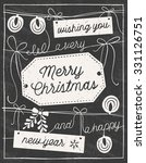 hand drawn chalkboard christmas ... | Shutterstock .eps vector #331126751