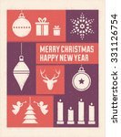 textured christmas card with... | Shutterstock .eps vector #331126754