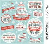 large collection of christmas... | Shutterstock .eps vector #331126769