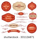 collection of red and beige... | Shutterstock .eps vector #331126871