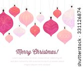 white background with christmas ... | Shutterstock .eps vector #331126874