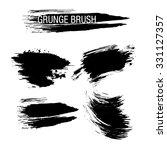 vector set of grunge brush... | Shutterstock .eps vector #331127357