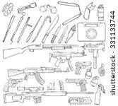 vector sketch big set of...   Shutterstock .eps vector #331133744