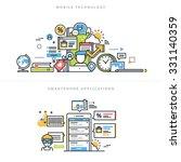 flat line design vector... | Shutterstock .eps vector #331140359