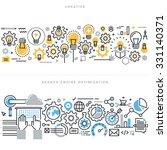 flat line design vector... | Shutterstock .eps vector #331140371