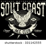 tee graphics south coast...   Shutterstock .eps vector #331142555