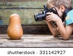 Small Funny Boy With Camera...