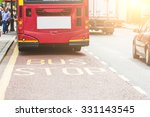 red double decker bus at bus... | Shutterstock . vector #331143545
