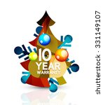 christmas sale  10 year... | Shutterstock .eps vector #331149107