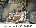 garbage dumpsters cardboard... | Shutterstock . vector #331149845