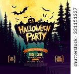 halloween party. vector... | Shutterstock .eps vector #331151327